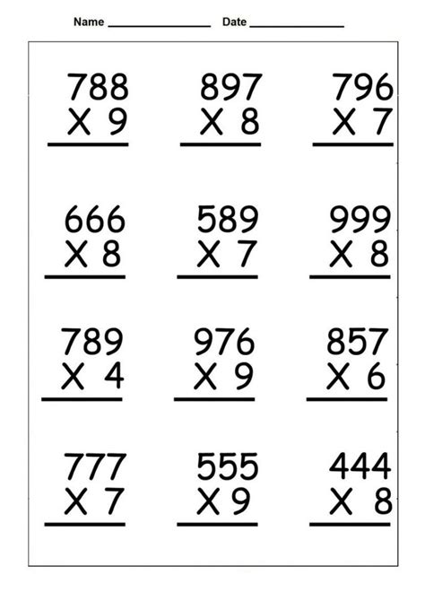 Multiplication is nothing but repeated addition. 4th Grade Multiplication Worksheets   Printable math worksheets, Printable multiplication ...