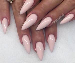 Stiletto nails with beautiful pink light colour | Nails ...