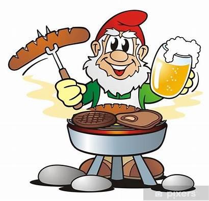 Beer Gnome Clipart Barbecue Garden Bier Grillfleisch