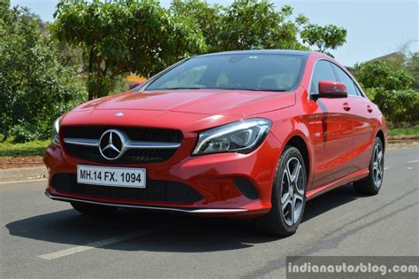 Mercedes benz adds made in india gesture control to the 2019. 2017 Mercedes CLA (facelift) front quarter low Review