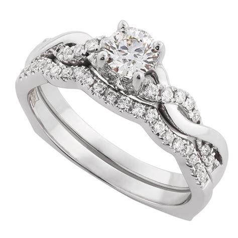 ikuma canadian diamond bridal set  ben bridge jeweler