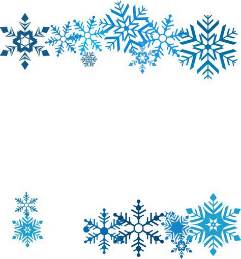 Transparent Background Snowflake Border by Snowflakes Png Transparent Images Pictures Photos Png Arts