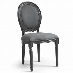 Tissu Pour Chaise : chaise m daillon bois et tissu gris louis xvi lot de 2 ~ Teatrodelosmanantiales.com Idées de Décoration