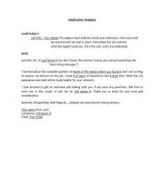 Resume Email Cover Letter Cover Letter Templates