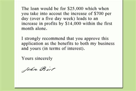 write  letter   bank    loan  steps