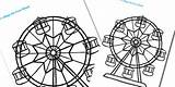 Wheel Ferris Coloring Template Designlooter Fine Seaside Colouring 315px 82kb sketch template
