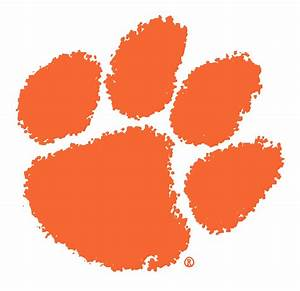 clemson tiger paw stencil clipartsco With tiger paw template
