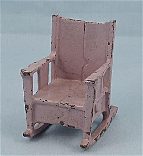 kilgore cast iron dollhouse furniture lavender rocking
