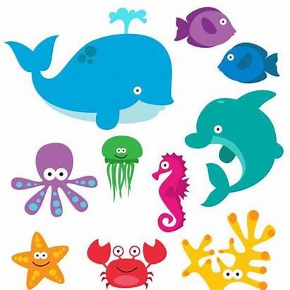 Sea Creatures Clipart Clip Animal Underwater Theme