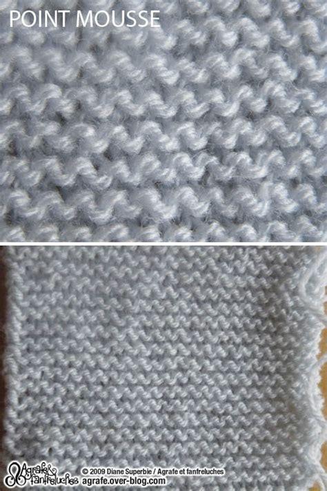 compter rang point mousse premiers points de tricot agrafe et fanfreluches