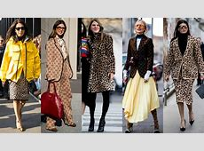 Leopard Print and Gucci Logos Took Over Street Style on