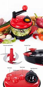 Details About Salad Chopper And Manual Food Processor By