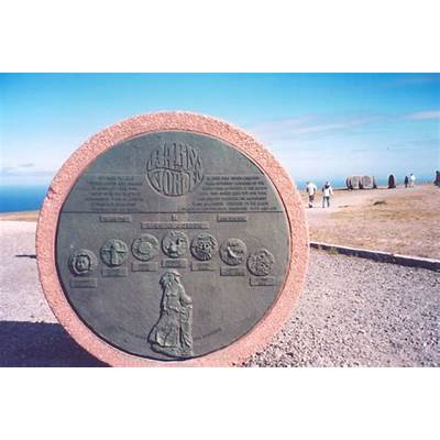 Plaque for Children of the Earth monument at North Cape on