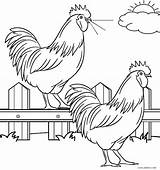 Coloring Farm Pages Animal Animals Printable Cool2bkids Sheets Roosters sketch template