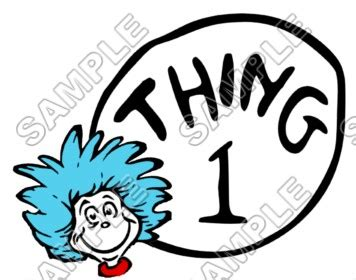 Thing One T Shirt Template by Dr Seuss Cat In The Hat Thing1 2 3 T Shirt Iron On