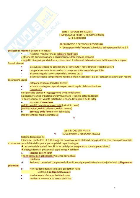 dispensa di diritto tributario schemi irpef ires e iva appunti di diritto tributario