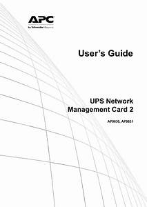 Apc Network Management Card User S Guide