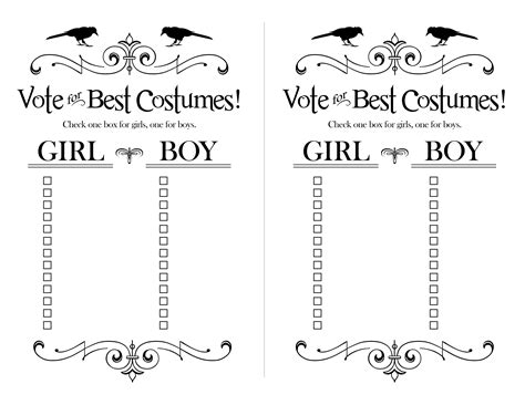 Cool Ballot Templates by Classroom Best Costume Ballots For Halloween Halloween
