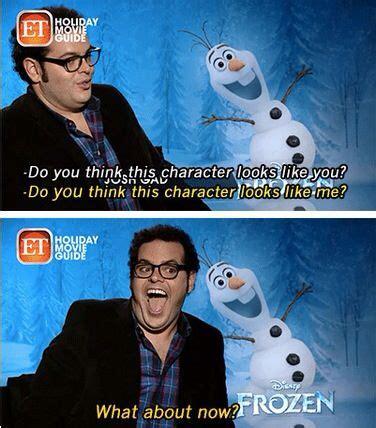 Olaf Meme - does josh gad look like olaf funny frozen meme disney pinterest mondays jokes photos and