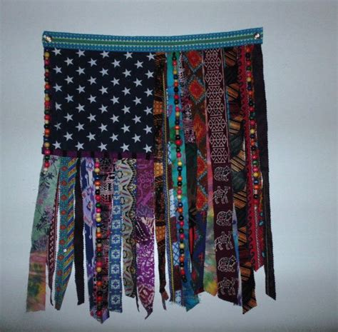 bohemian hippie beaded curtain flag wall door ethnic