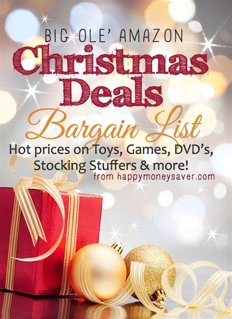 best christmas gift deals deals bargain list toys stuffers dvd s and more happy money saver