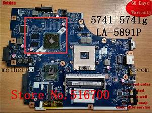 New70 La 5891p For Acer Aspire 5741z 5742g Laptop Motherboard Hm55 Mbwjm02001 Mb Wjm02 001 100
