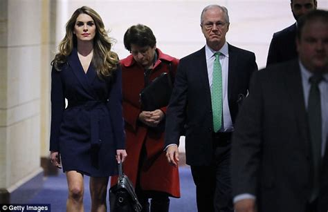 Hope Hicks with Trump