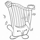 Shopkins Harp Coloring Pages Season Musical Instrument Shopkin Printable Irish Drawing Instruments Colouring Hillary Template Info Sheets Colour Sketch Tsum sketch template