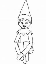 Coloring Elf Shelf Printable Sheets Santa Printables Anime Templates sketch template