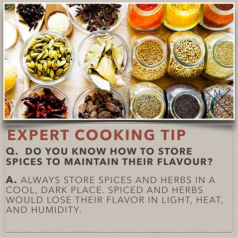 cuisine techniques do you how to store spices to maintain their flavour