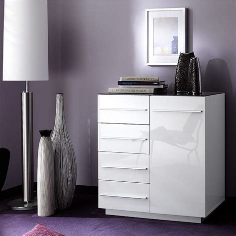 kommode hochglanz kommode logan in hochglanz weiß und glas schwarz