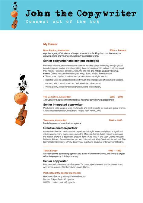 Copywriter Resume Creative by Copywriter Creative Resume