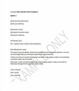 collection letter template 7 free word pdf format With debt collector letter template