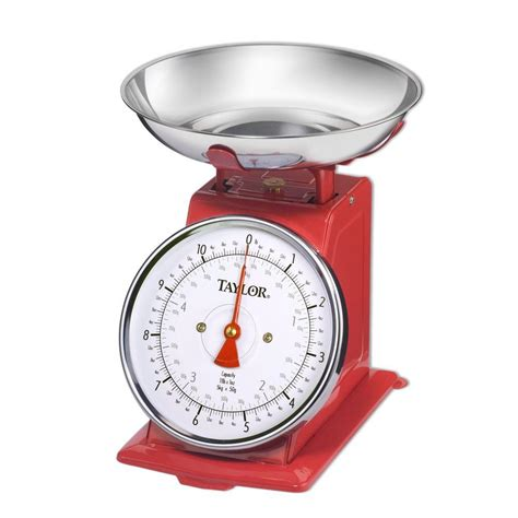 retro kitchen decor ideas analog kitchen scale in stainless steel 371021