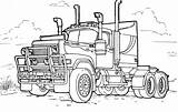 Coloring Truck Trucks sketch template