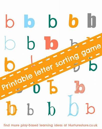 Alphabet Games Letter Letters Sorting Printable Activities
