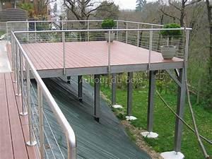 terrasse bois suspendue sur pilotis et balcons bois a With terrasse en bois suspendue