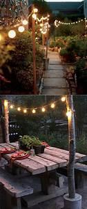 28, Stunning, Diy, Outdoor, Lighting, Ideas, U0026, So, Easy
