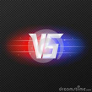 Versus Icon With Flares Stock Illustration