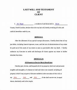 Last will and testament form 8 download free documents in pdf word sample templates for Printable will and testament
