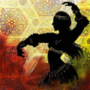 greeting card app abstract belly dancer 12 painting by corporate task