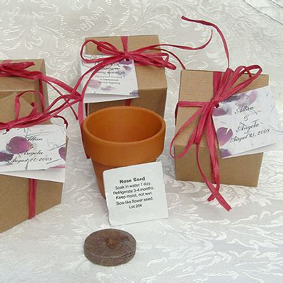 flower seed favor roses rose wedding