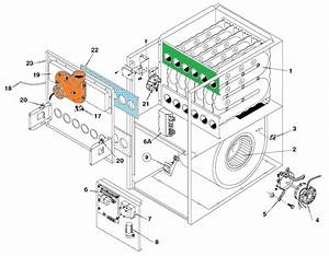 Upflow Natural Gas Furnace Parts Diagram