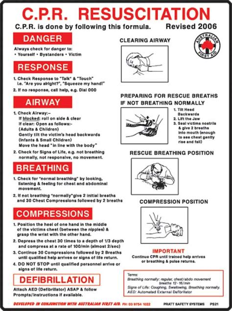 expired air resuscitation cpr chart