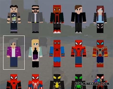 spider man hd skin pack  minecraft pe