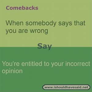 witty comebacks for insults