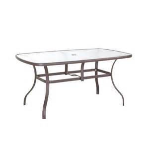 Replacement Plastic Patio Table Tops hampton bay navona 38 in x 60 in rectangular glass top