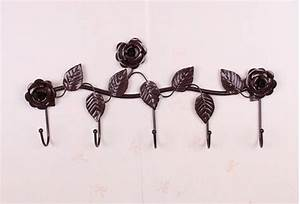 rustic decorative wall hooks wrought iron traceless metal With decorative wall hooks photo gallery