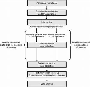 Flow Chart Of Study Timeline  Cbt  Cognitive U2013 Behavioural