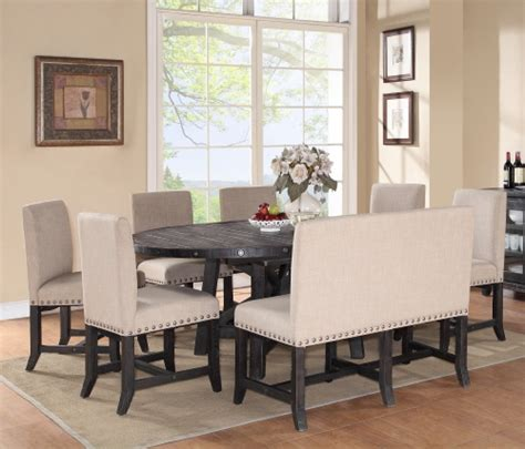 settee dining set modus yosemite 8 oval dining table set with